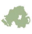 northern ireland map population demographics vector image vector image