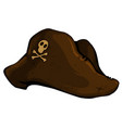 old pirate hat vector image vector image