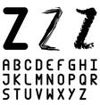 original font alphabet - easy apply any stroke vector image vector image