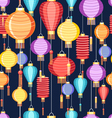 pattern Chinese lanterns vector image
