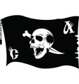 Pirate flag cartoon vector image vector image