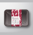 premium quality lamb fillet container mock up vector image