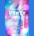 realistic soap bubbles for summer party flyer vector image