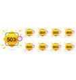 sale discount set emblem great design for any vector image vector image