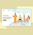 salt therapy in salon or hotel having rest web vector image vector image