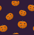 seamless pattern of evil scary halloween pumpkin vector image vector image