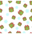 Seamless pattern of gift boxes and snowflakes vector image vector image