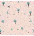 seamless winter pattern wintermerry christmas vector image vector image