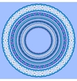 set of blue round geometrical frames circle vector image