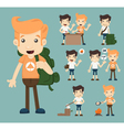 Set of camping boy character eps10 format vector image vector image