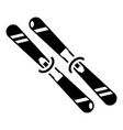 skiing icon simple black style vector image