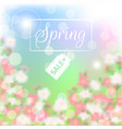 spring sale floral background with blossoming vector image vector image