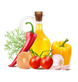 still life in vegetables vector image vector image