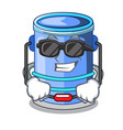 super cool cylinder bucket isometric of for mascot vector image