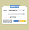 User login 26 vector image vector image