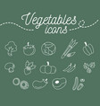 vegetables icons set design on green background vector image vector image