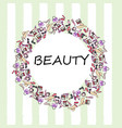 set of makeup products female beauty accessories vector image