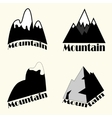 set of Mountain vector image