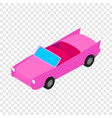 car convertible isometric icon vector image