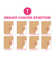 breast cancer symptom vector image