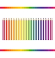 Pencil different colors vector image