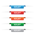 90 percent off paper tag labels vector image vector image