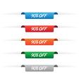 90 percent off paper tag labels vector image vector image