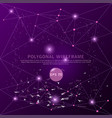 abstract purple background futuristic wire frame vector image vector image
