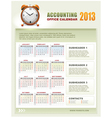 accounting corporate calendar 2013 vector image vector image