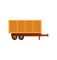 agricultural wagon trailer agriculture industrial vector image vector image