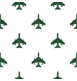 aircraft with missiles pattern flat vector image vector image