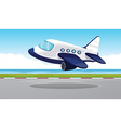 Airplane flying out of the runway vector image