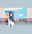 arab female doctor in hijab with stethoscope and vector image vector image