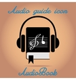 Audio book icon vector image vector image