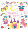 basic rgbset of isolated magical characters vector image