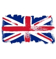 Big drawn flag of Great Britain vector image vector image