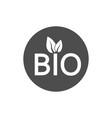 bio organic icon flat vector image vector image
