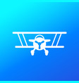 biplane old airplane icon vector image