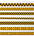 black and yellow police stripe border vector image vector image