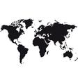 black map world vector image