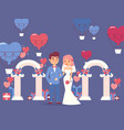 bride and groom at wedding ceremony vector image