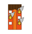 building on fire icon image vector image vector image