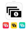 Bundle with dollar sign icon vector image vector image