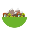 Camping landscape isolated icon