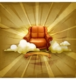 Chair old style background vector image