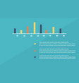 colorful graph design business infographic vector image