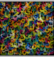colorful pattern composed from arabic letters- vector image vector image