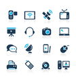 Communication icons azure series vector | Price: 1 Credit (USD $1)
