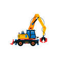 construction machinery excavator commercial vector image vector image