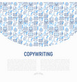 copywriting concept with thin line icons vector image